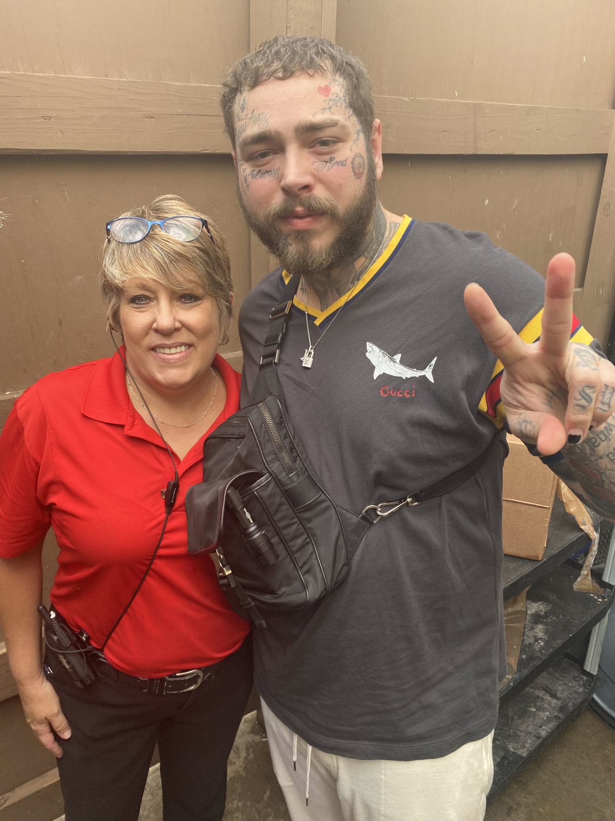 Rapper Post Malone visits Tully's in Clarks Summit
