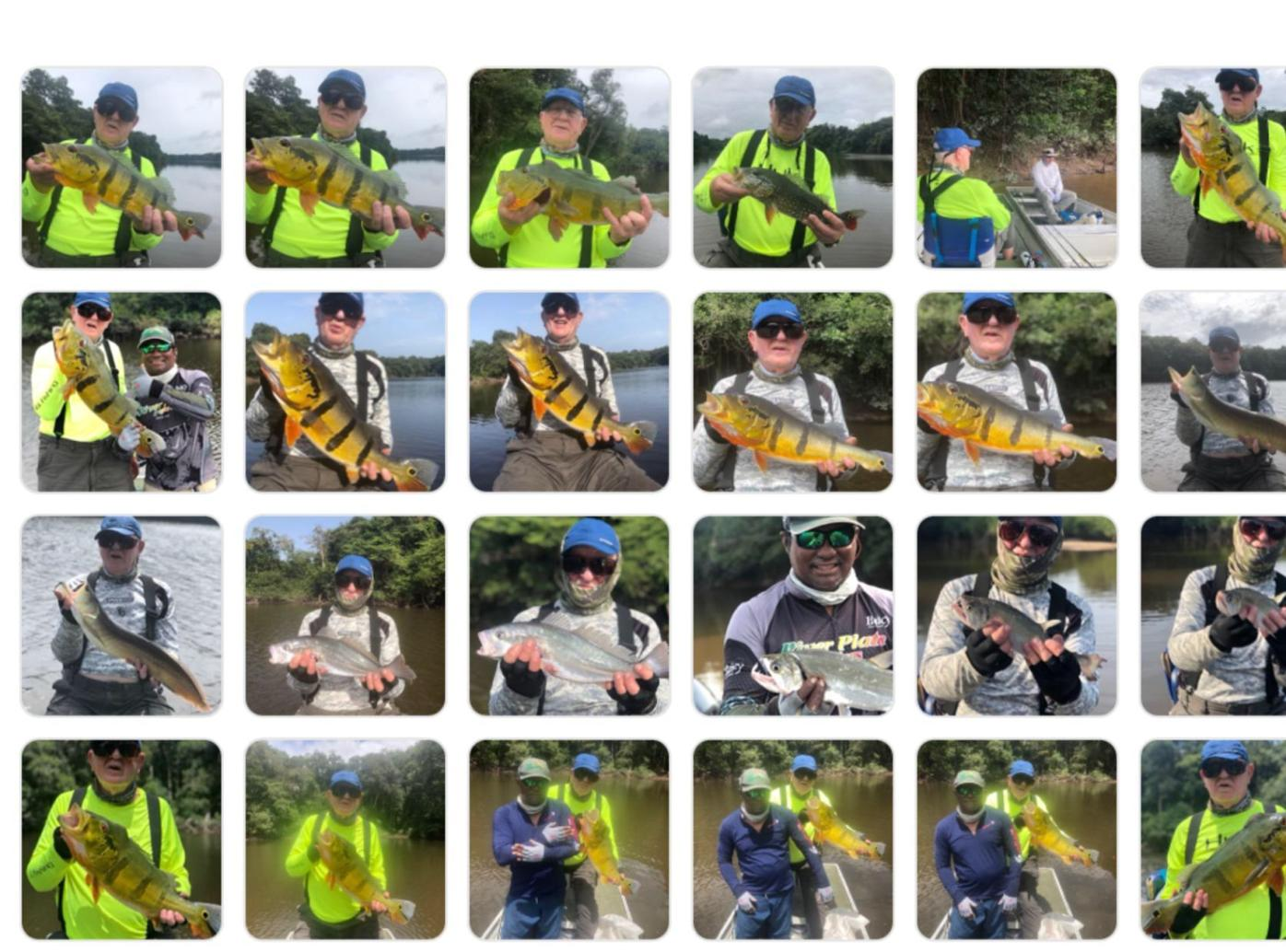 A montage of fishing photos from Anthony Sulkevich's trip to Brazil