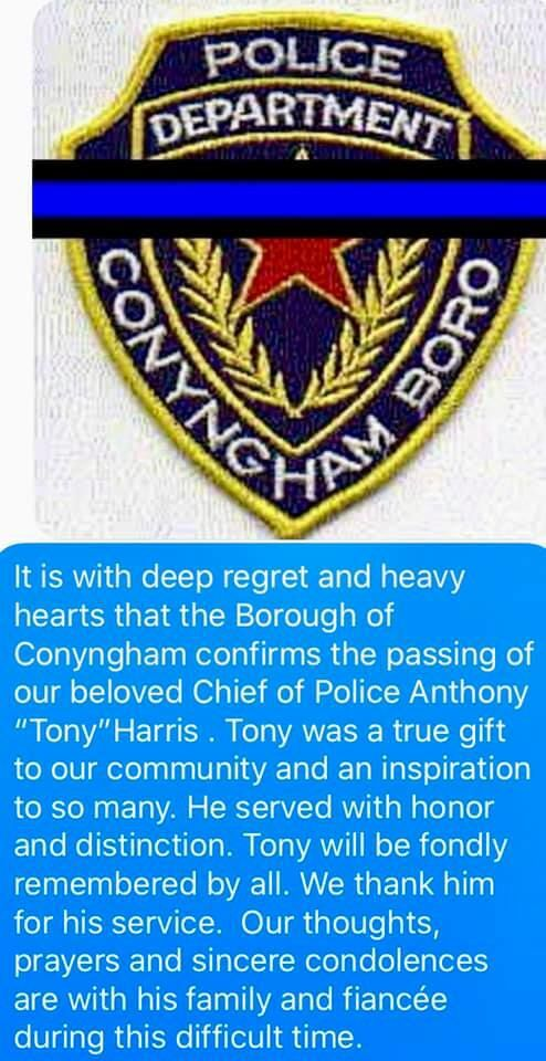 Conyngham expresses condolences after death of police chief