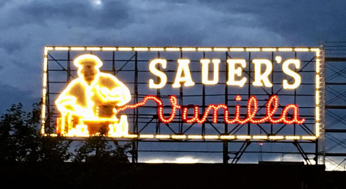 C.F. Sauer's iconic vanilla sign