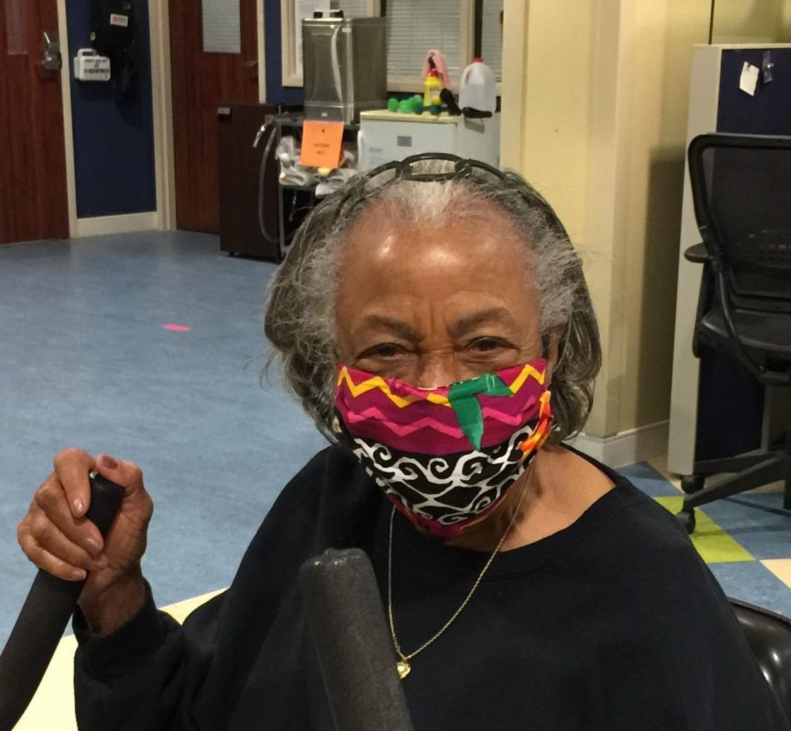 Fauquire masks woman
