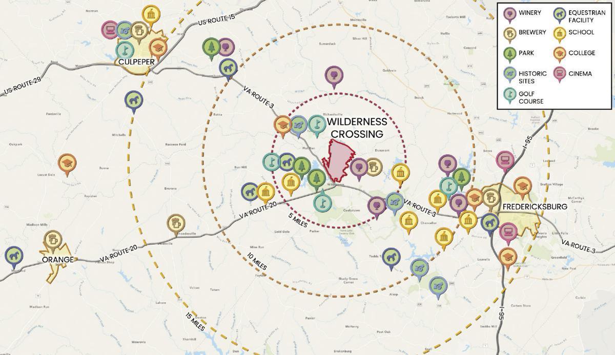 Wilderness Crossing regional map