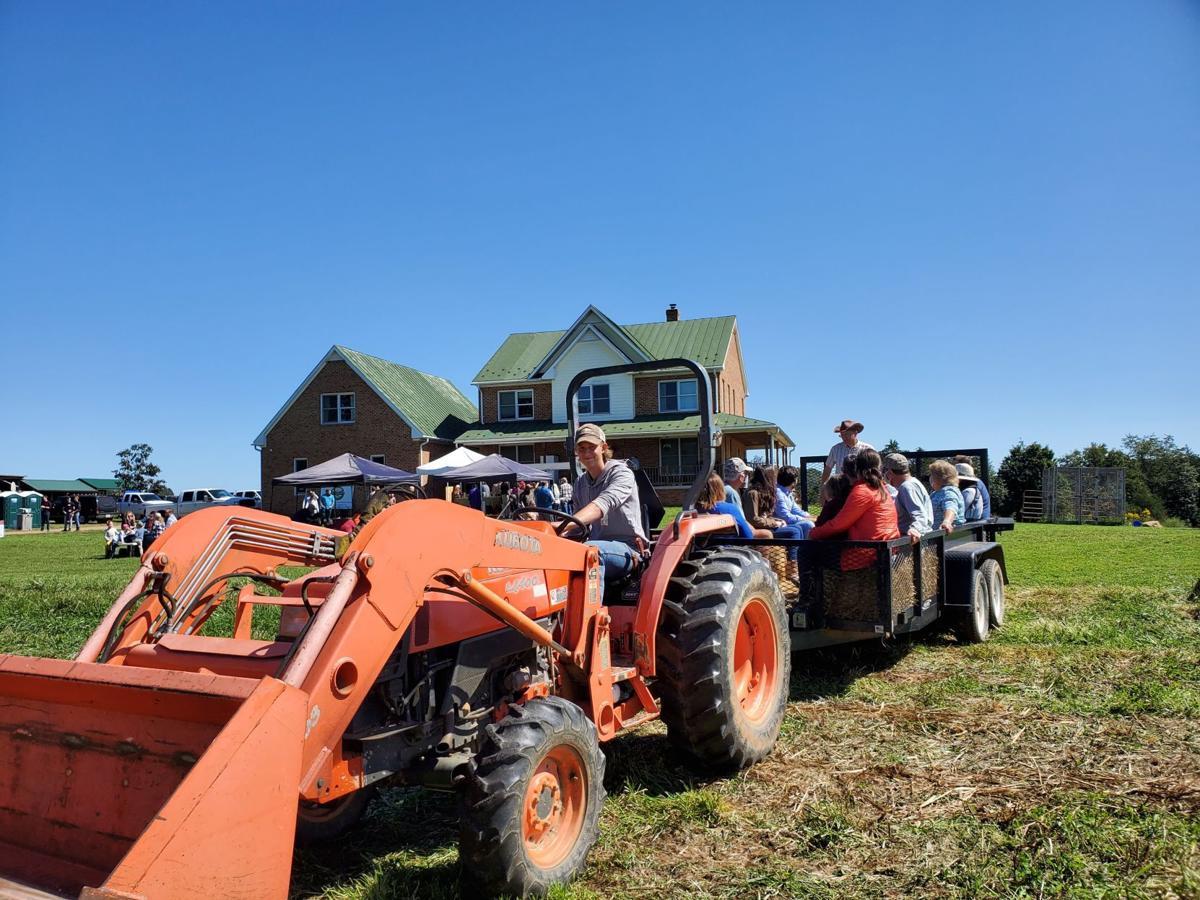 Moving Meadows Farm hay ride Culpeper