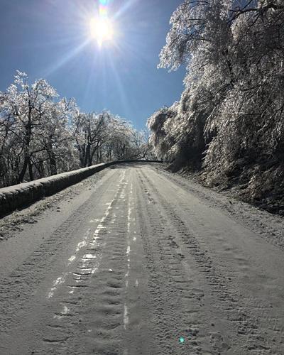 Skyline Drive in wintertime