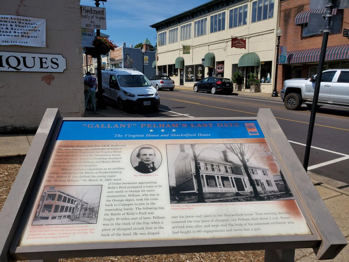 Pelham marker in downtown Culpeper