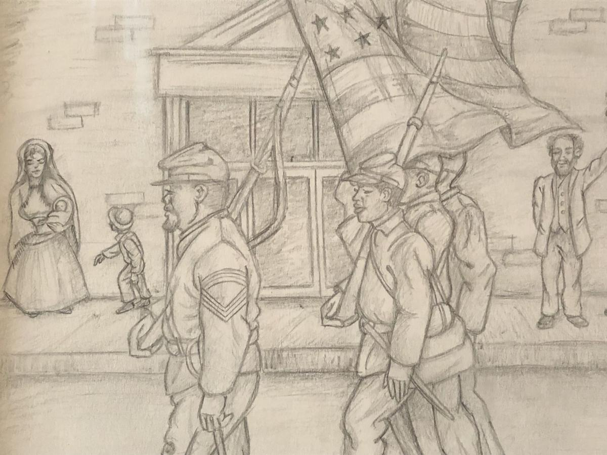 Black troops in Culpeper Courthouse