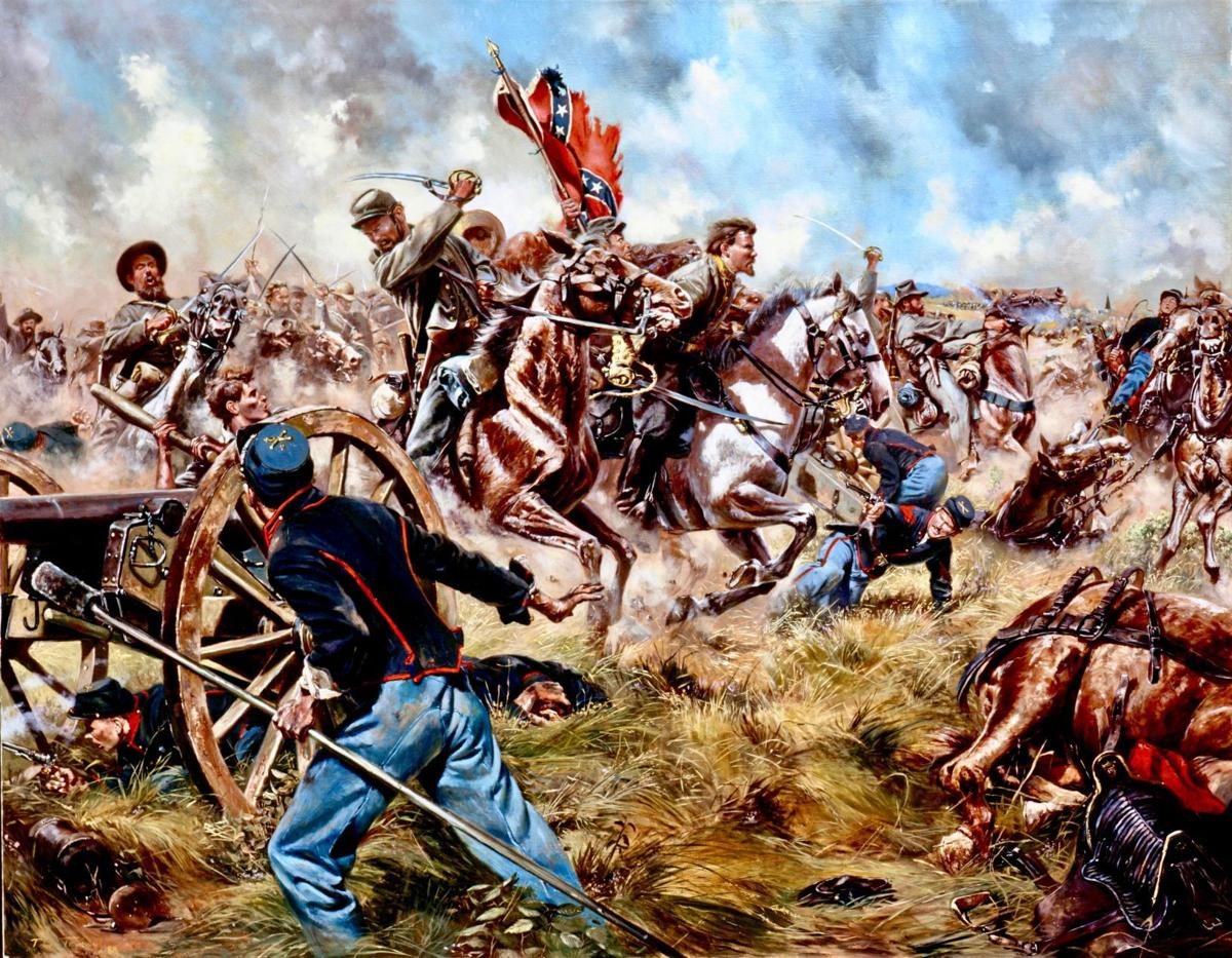 Virginia Cavalry's 35th Battalion fights at Fleetwood Hill