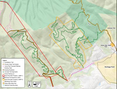 Brush Mountain trail project