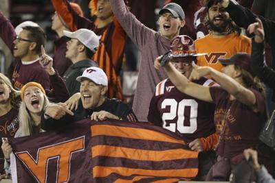 Virginia Tech fans celebrate