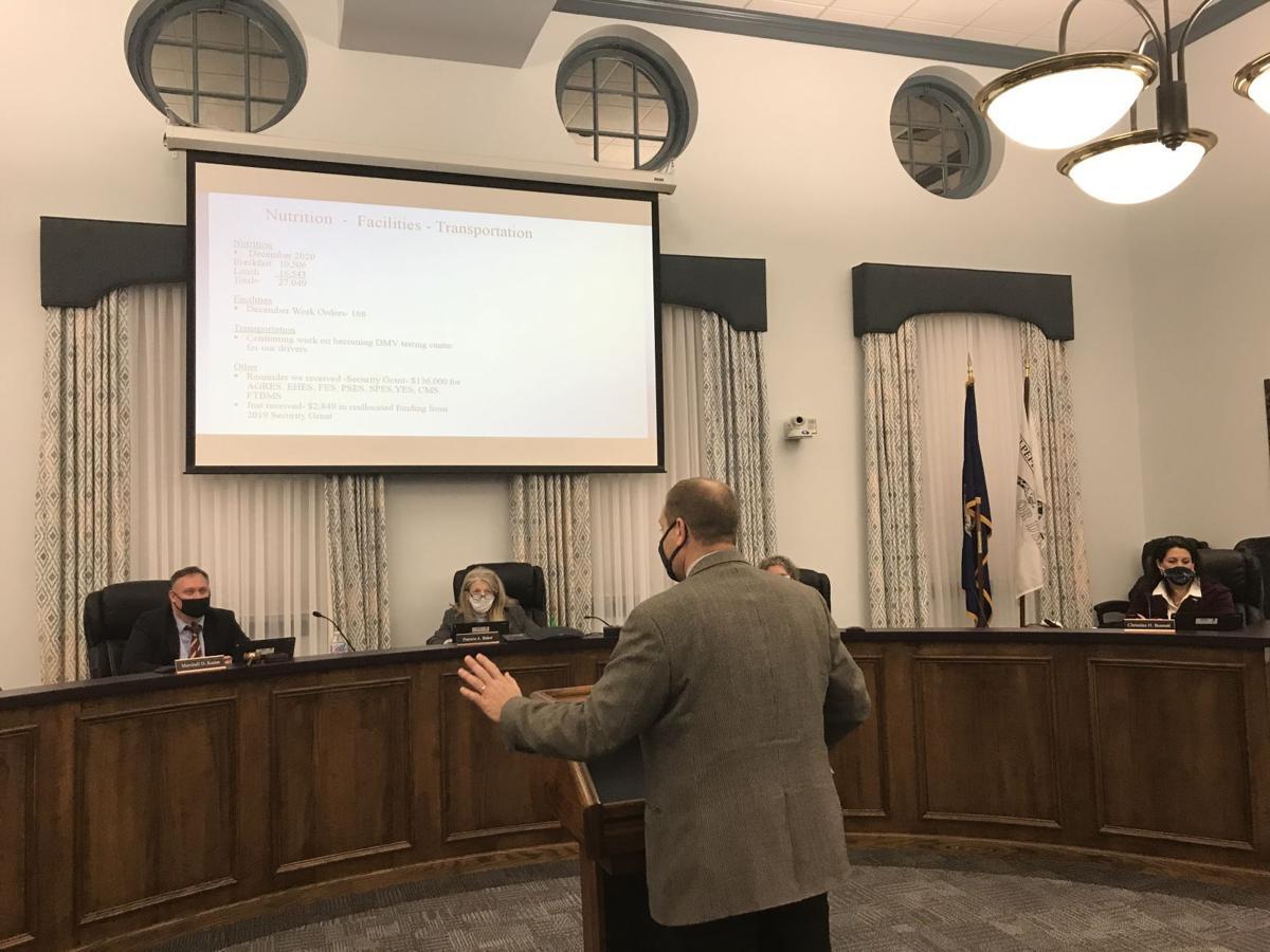 Superintendent Brads addresses Culpeper School Board