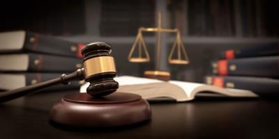 Judge gavel and scale in court. Legal concept (copy)