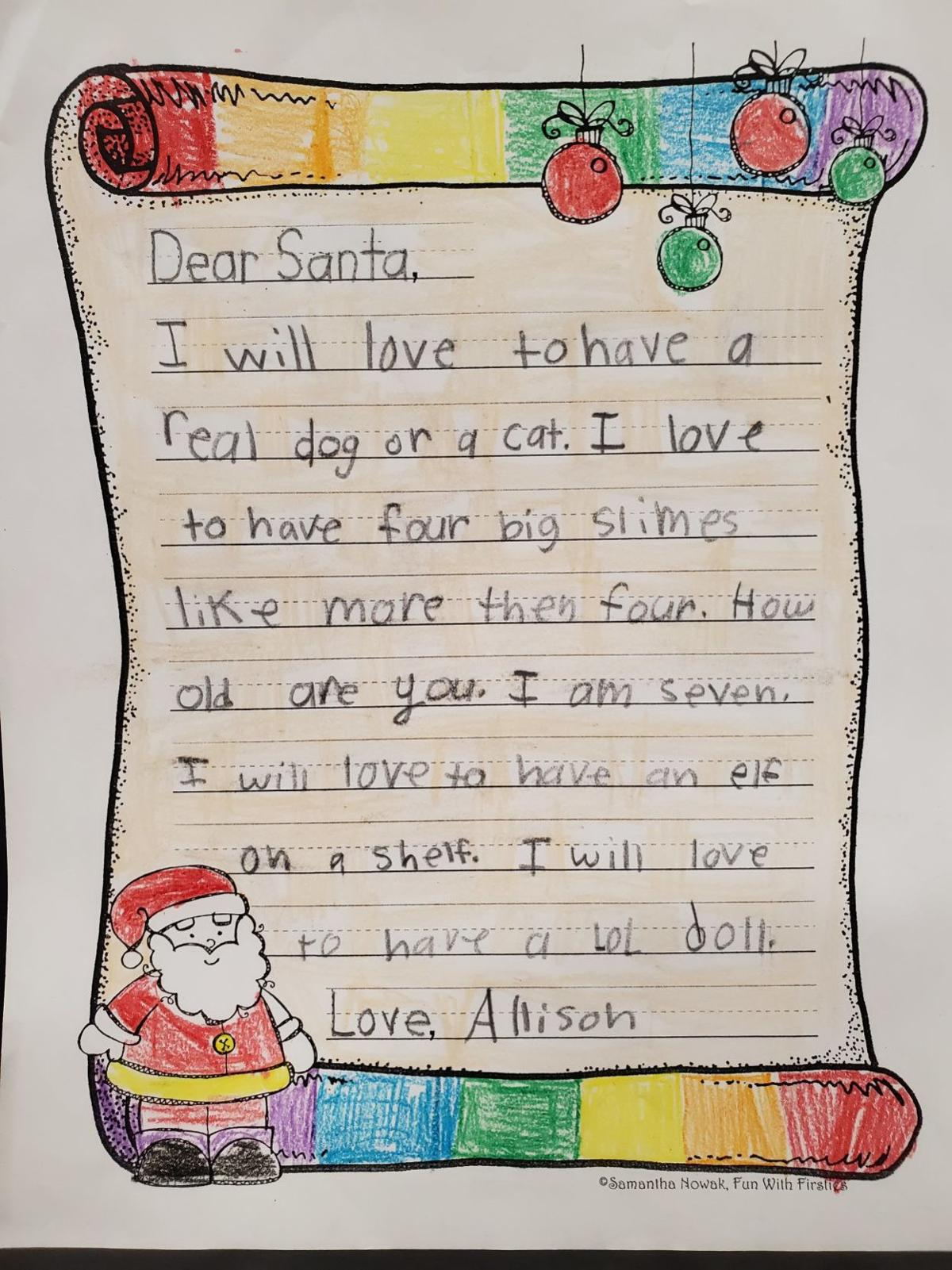 Culpeper Second Graders Send Their Christmas Wishes To The North
