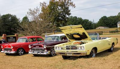 Car display at Carver School Homecoming