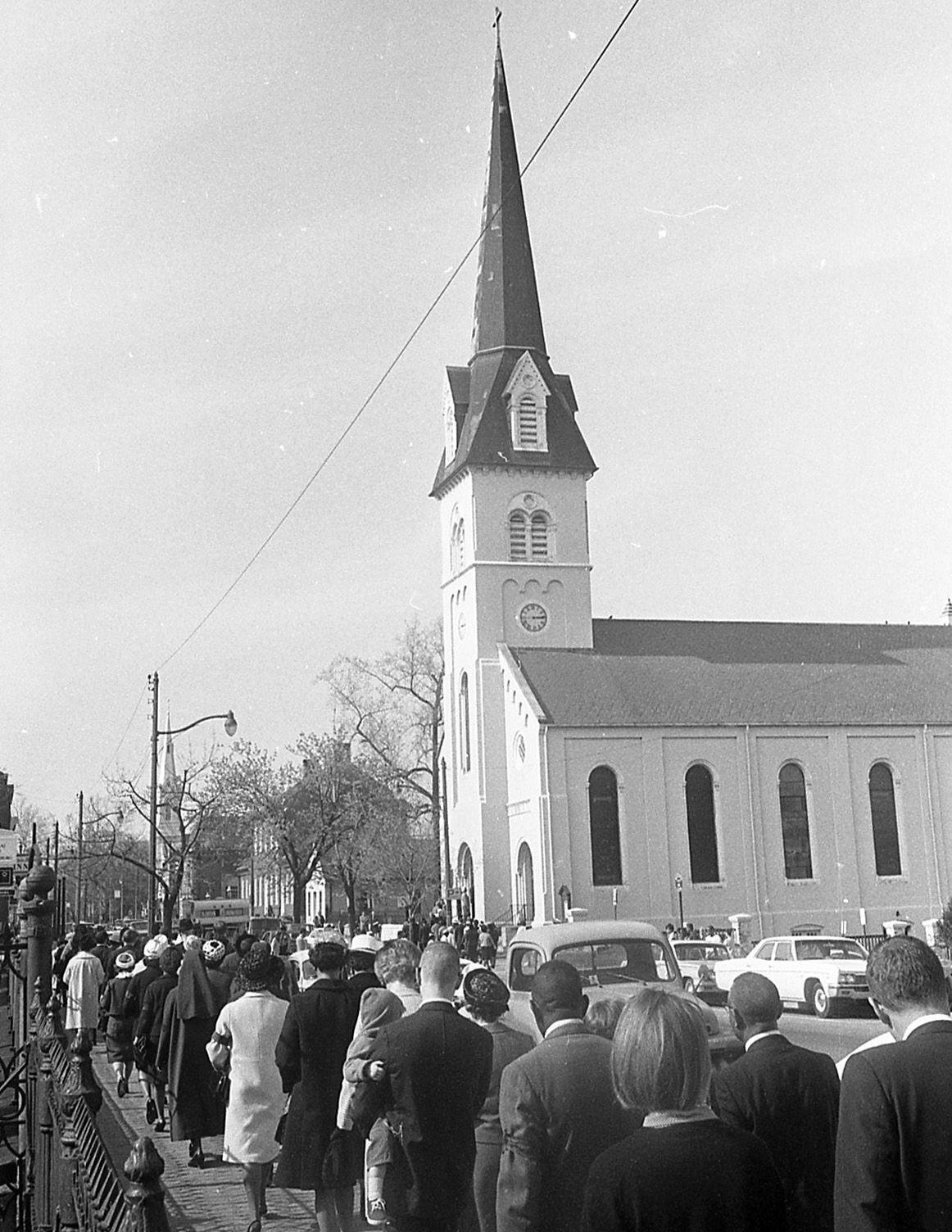 St. George Episcopal Church MLK procession