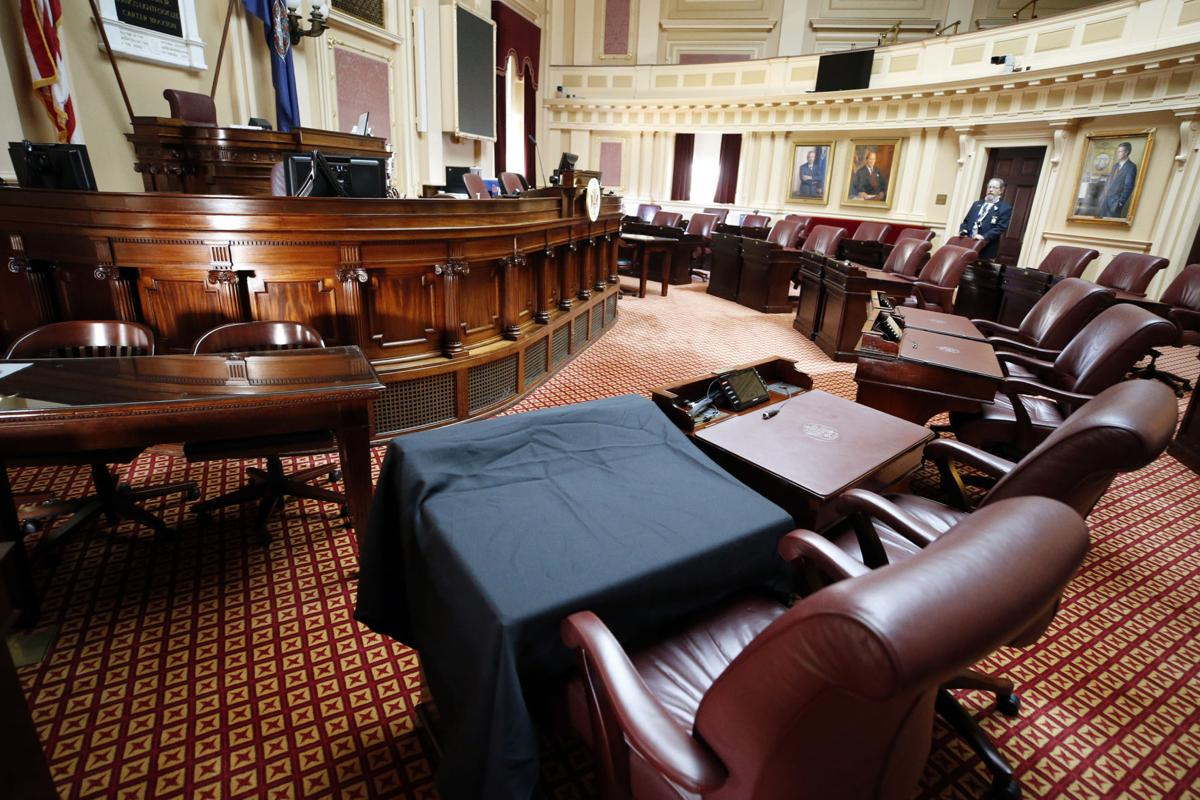 The desk of the late Sen. Ben Chafin (copy)