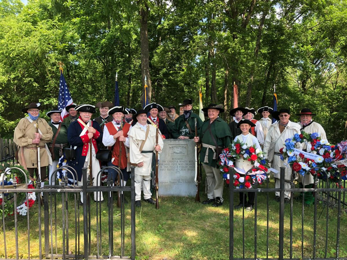 Culpeper Minutemen salute Flag Day (copy)