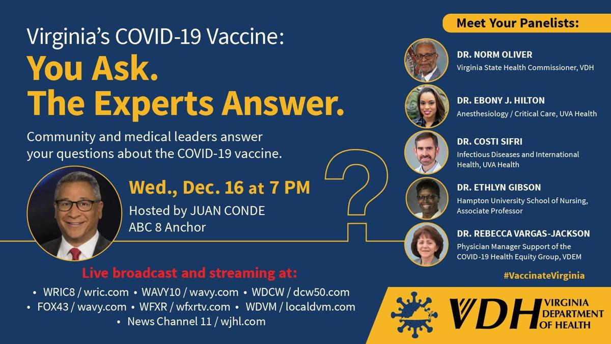 VDH vaccine town hall poster