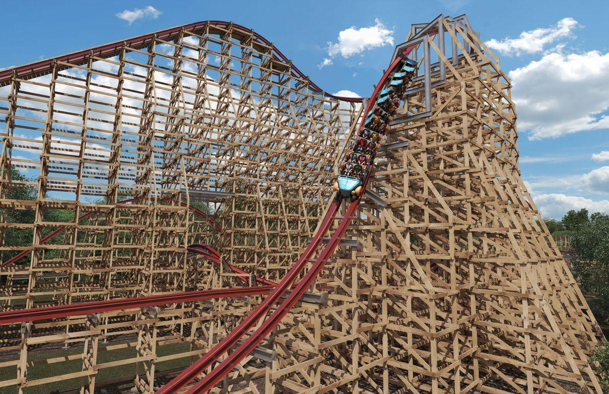 New wood and steel roller coaster coming in 2018 to Kings Dominion ...