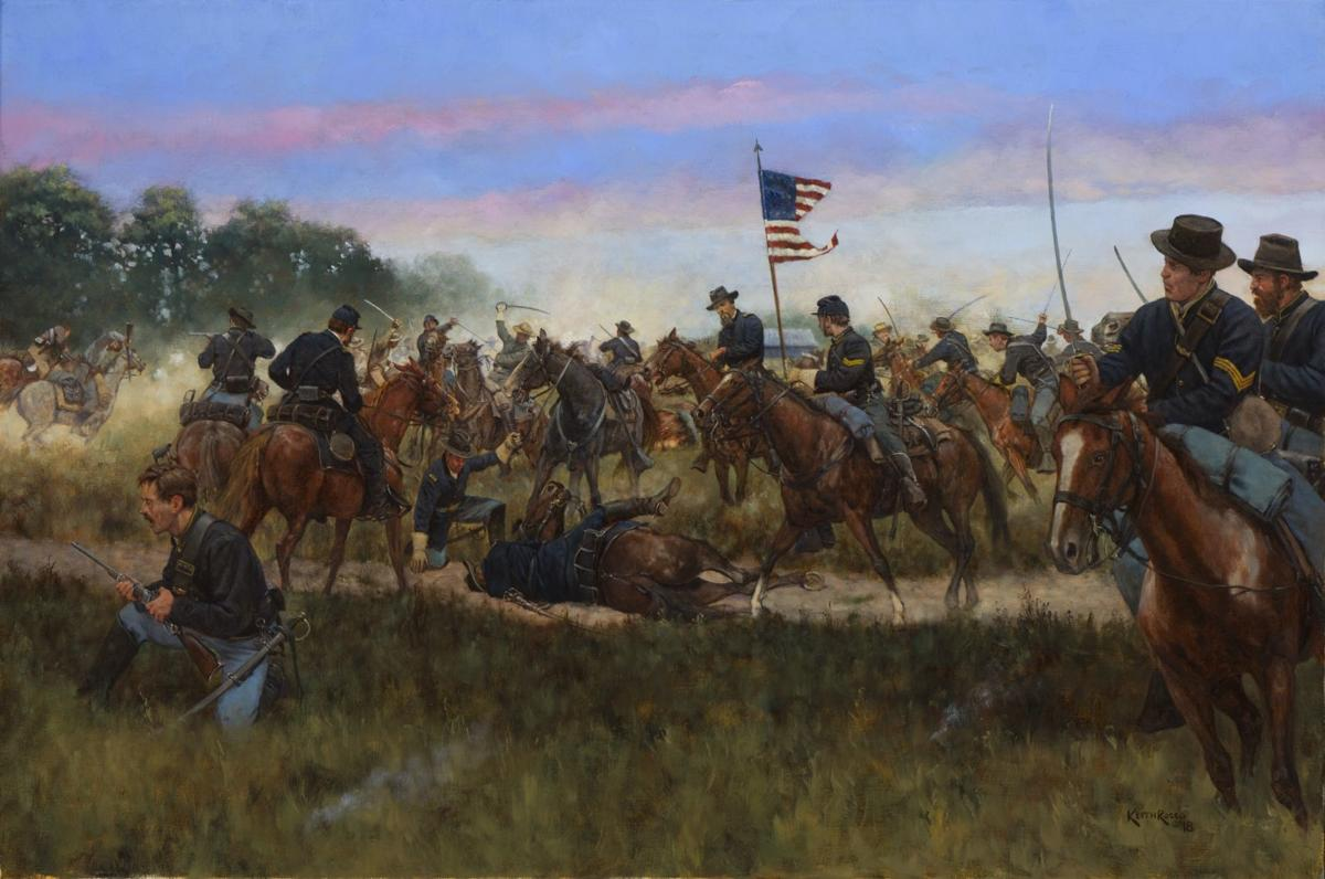 Charge of the 8th Illinois Cavalry