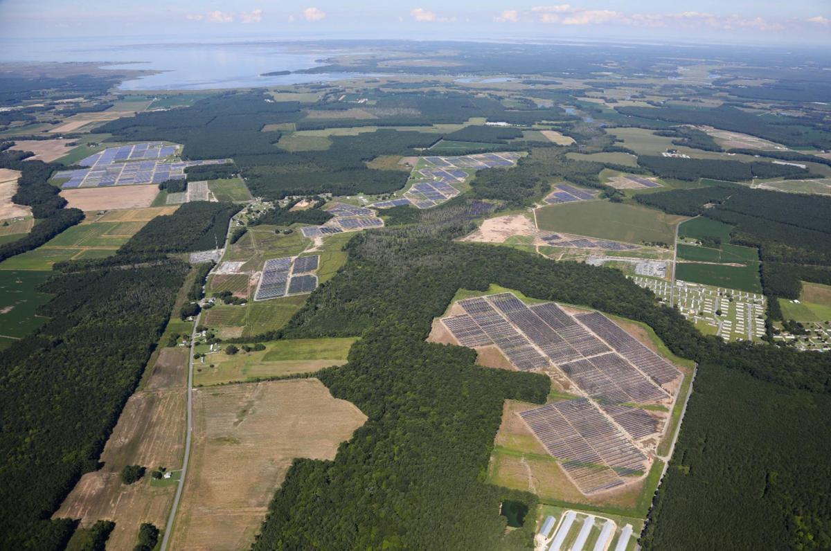 Utility-scale solar plant