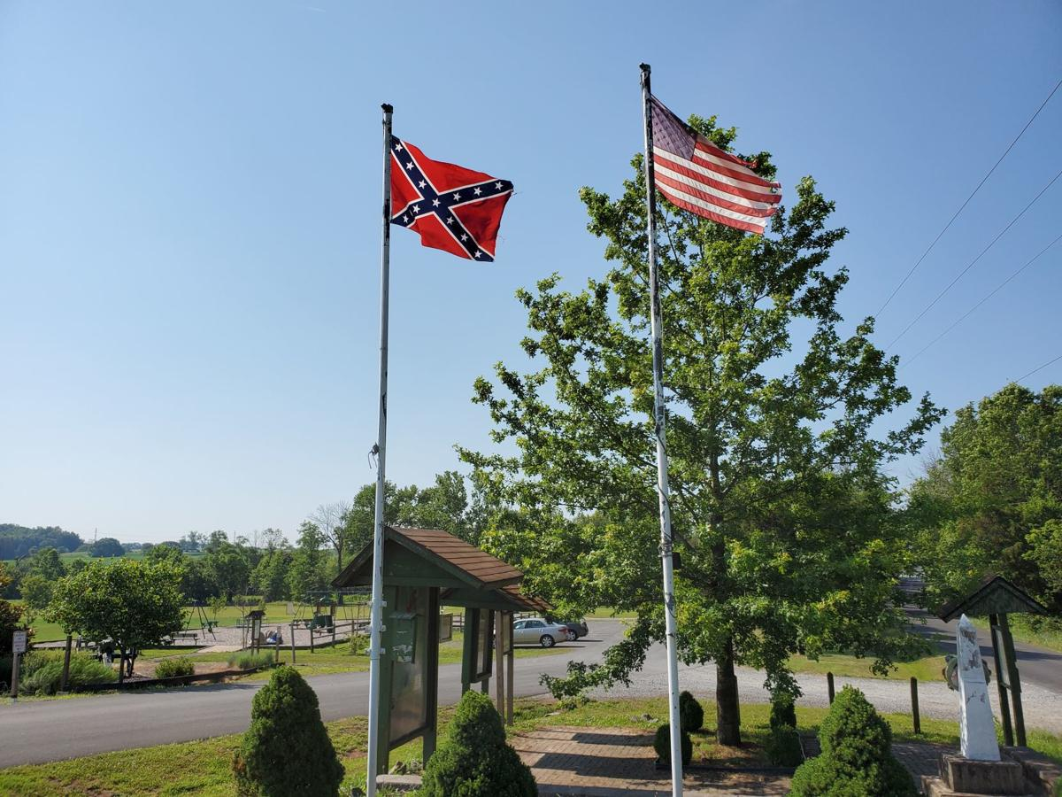 Flags in Lenn Park