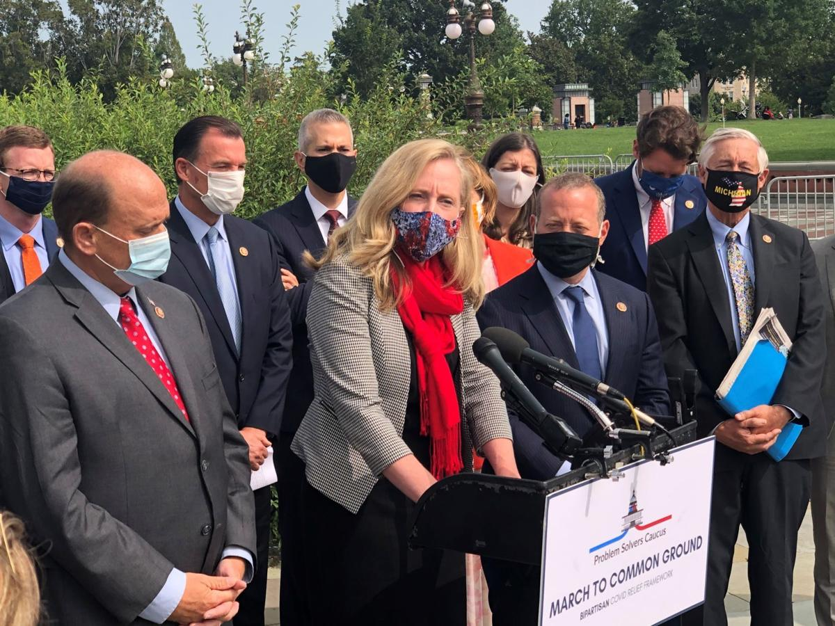 Spanberger at Problem Solvers news conference (copy)