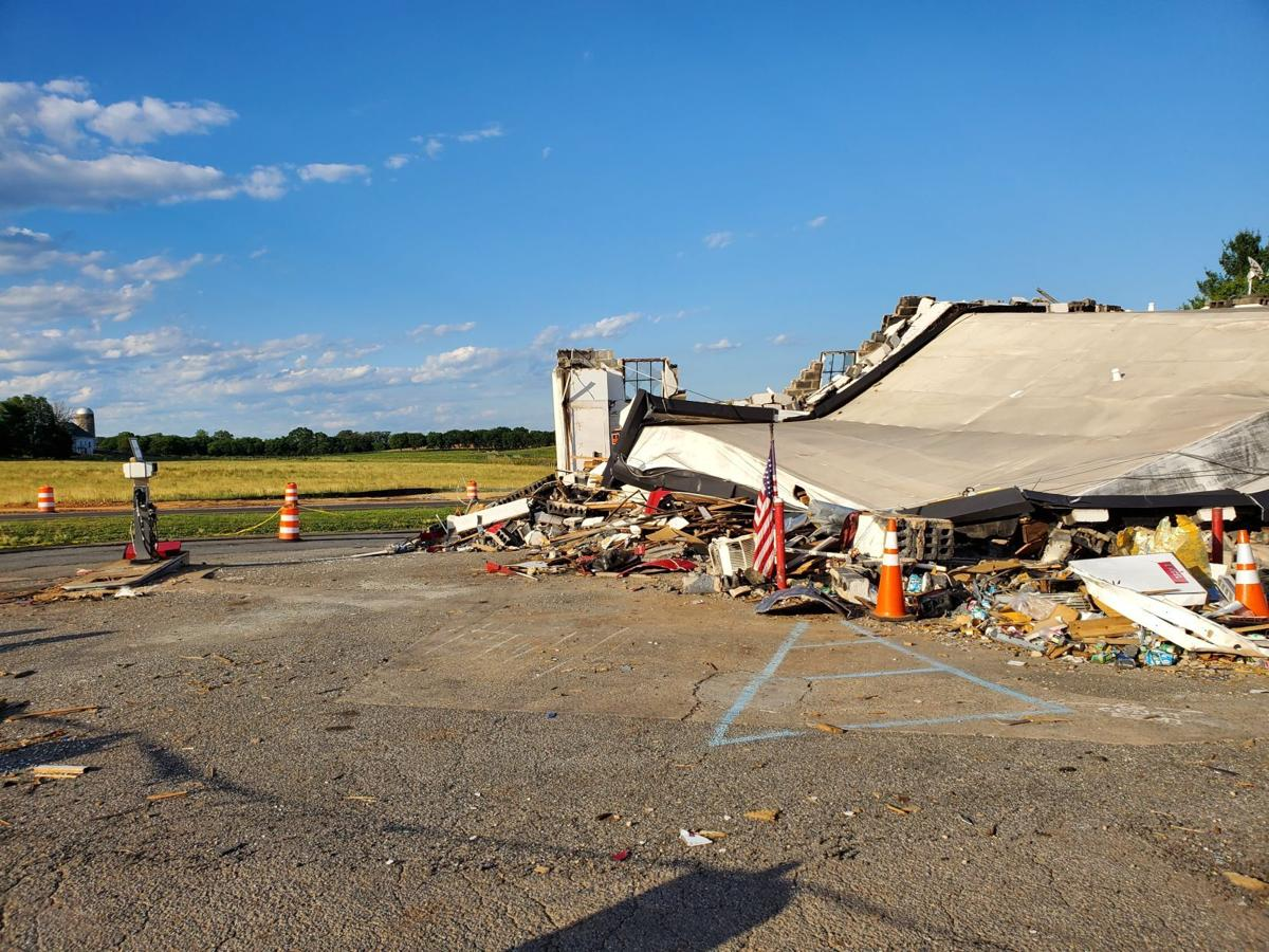 Somerset gas station collapse Orange County