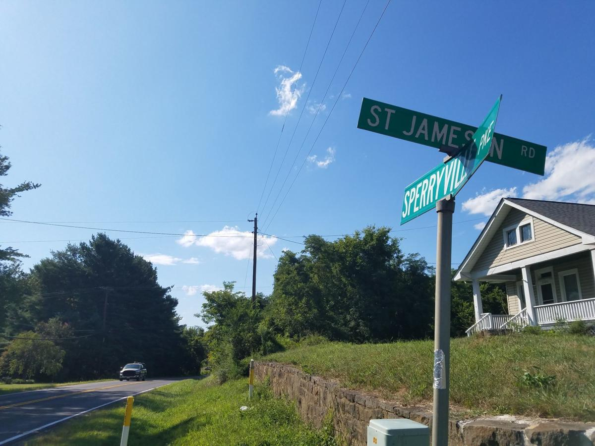 Sperryville Pike at St. Jameson Road