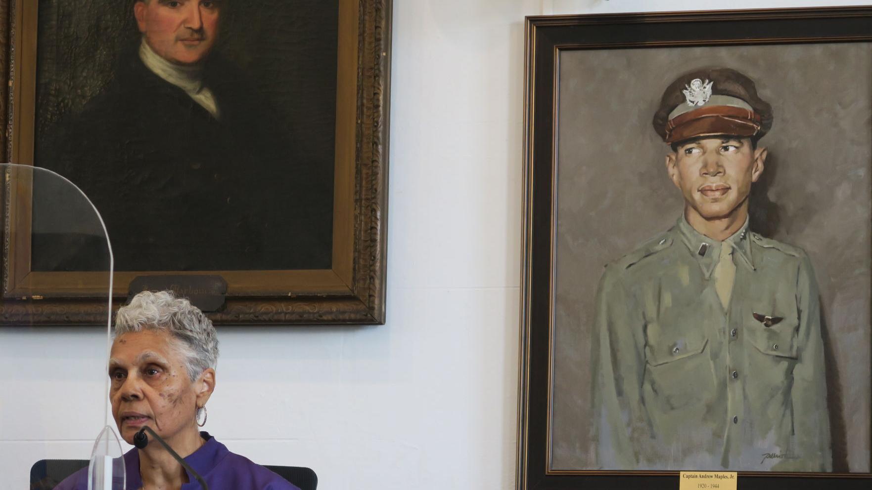 'Unbroken line of patriots': Orange unveils Tuskegee airman's portrait
