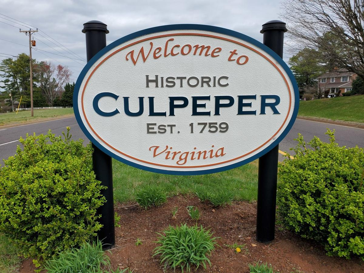 Welcome to Culpeper sign
