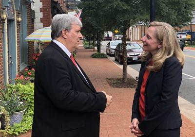 Spanberger confers with Coiner (copy)