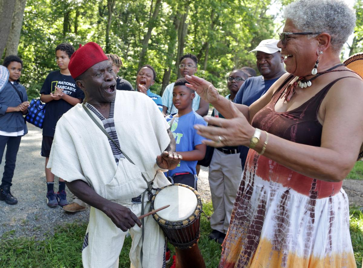 Juneteenth drummer at Montpelier