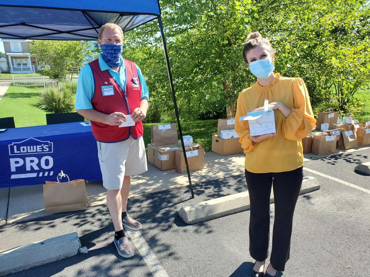 Lowes N95 mask donation Culpeper Chamber