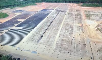 Construction of sPower solar plant in Spotsylvania
