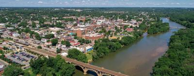PHOTO: Aerial view of Fredericksburg