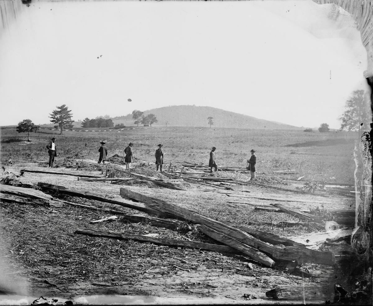 Union soldier's graves on Cedar Mountain battlefield