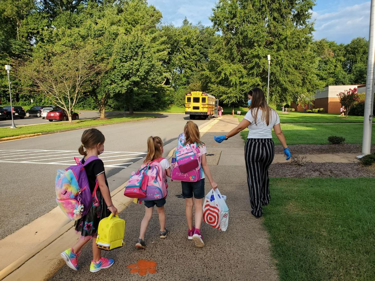 First day of school at Pearl Sample Elementary