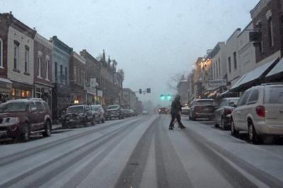 Snow East Davis St