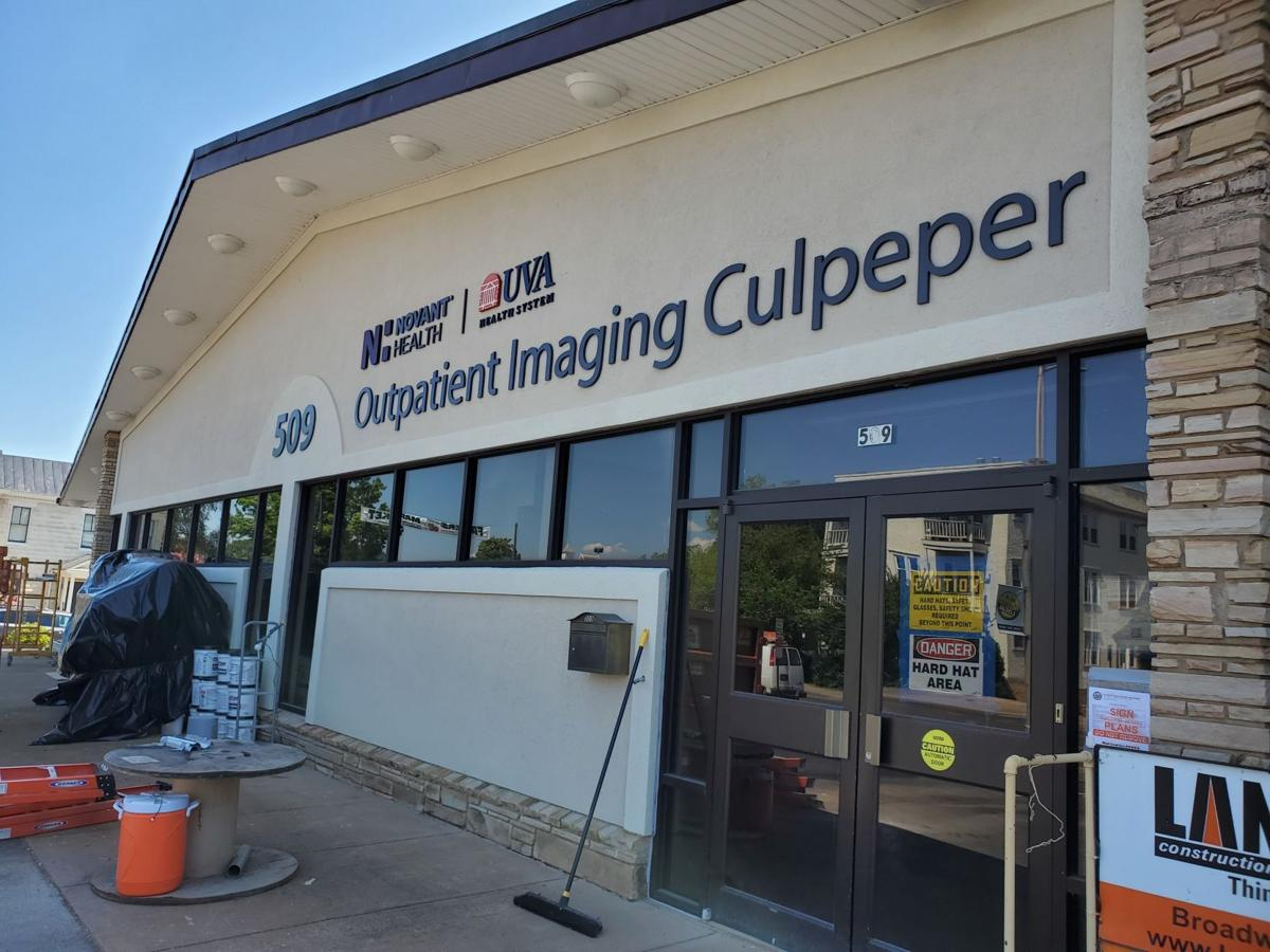 New sign for Imaging Center Culpeper Main Street