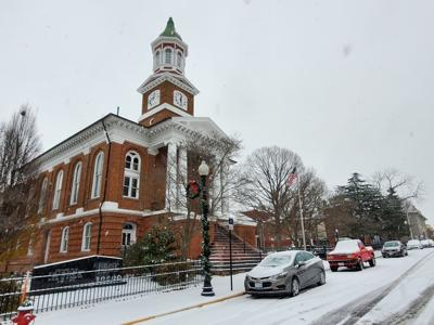 Culpeper County Courthouse in snow December 2020