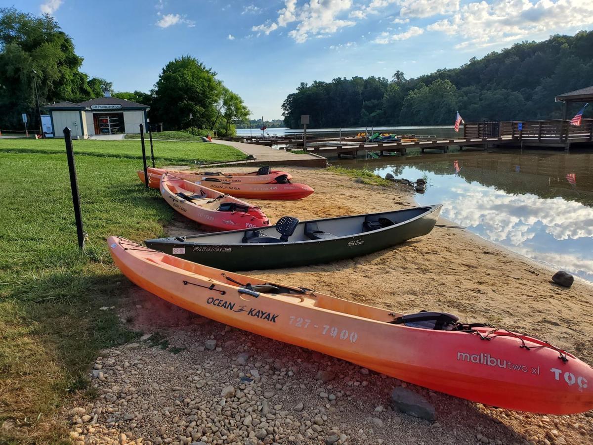 Lake Pelham kayaks & dock