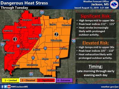 Dangerous heat to grip parts of 13 states in South, Midwest