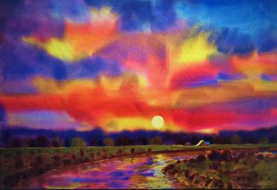 """""""River Sunset"""" by Gary Walters"""