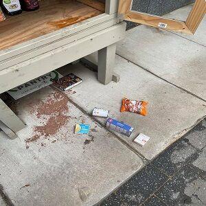Oglesby Micro Food Pantry Vandalism