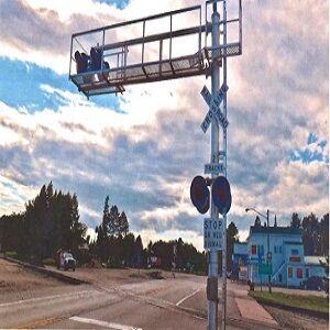 Route 89 Crossing In Ladd