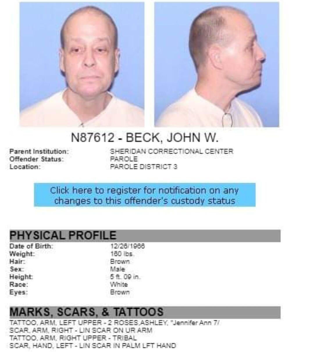 John Beck sought