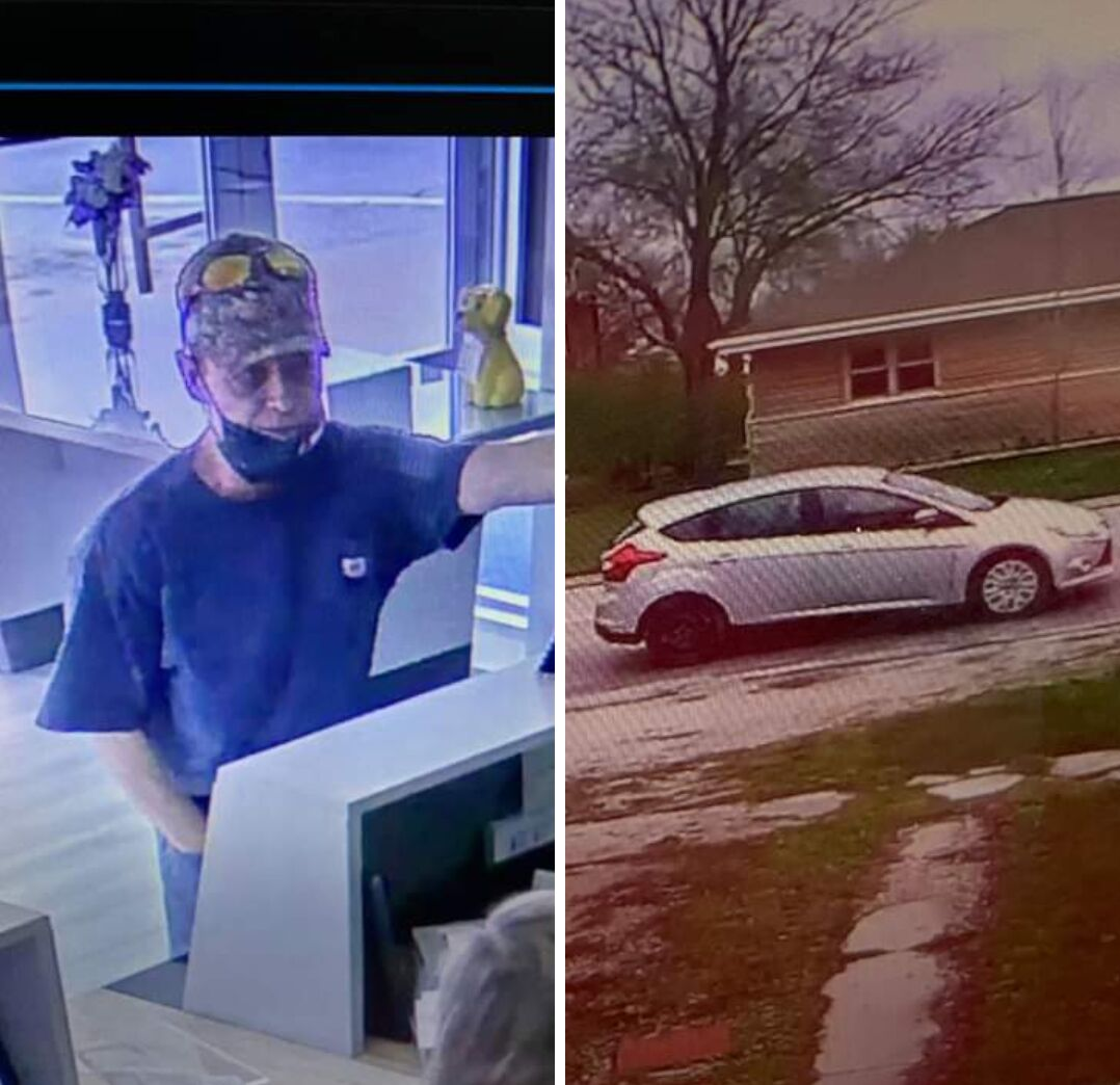 Video allegedly showing John Beck robbing an Odell Bank