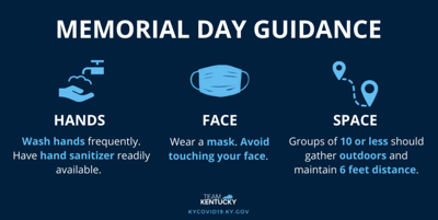 Memorial Day guidance