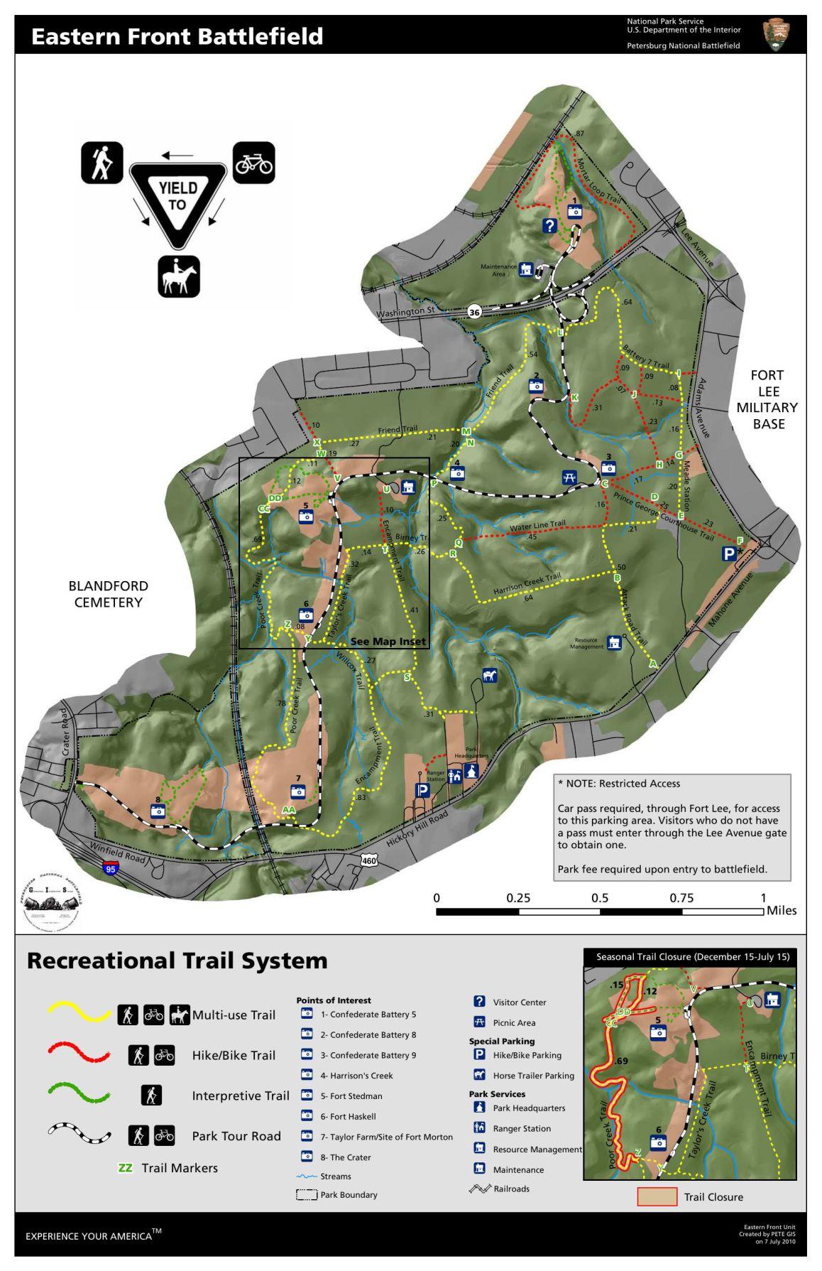 Petersburg Battlefield Trail Map
