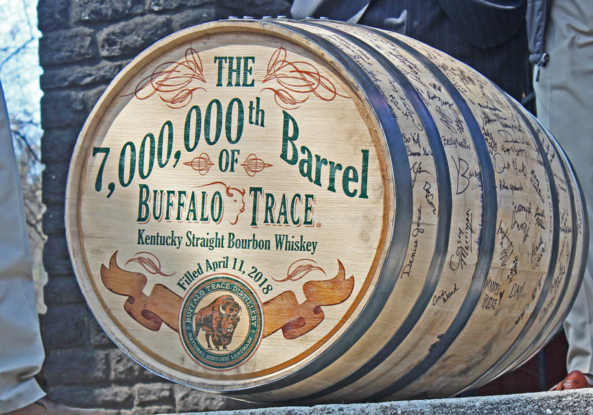 Buffalo Trace celebrates seven-millionth barrel since prohibition
